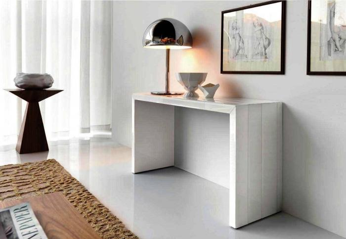 10 white console tables for the hallways rilane. Black Bedroom Furniture Sets. Home Design Ideas