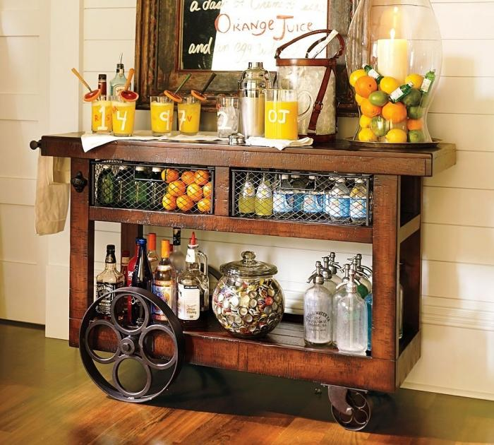 Non Alcoholic Outdoor Bar Cart