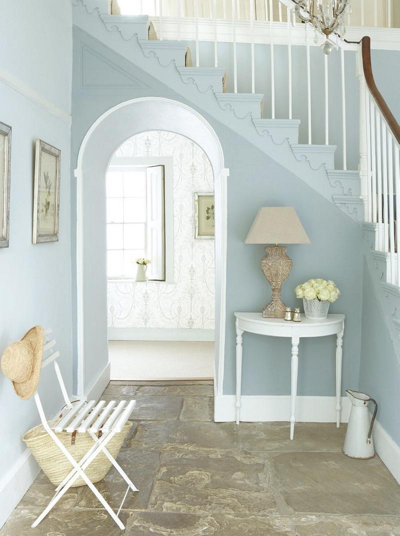 10 blue hallway design ideas rilane - Flurgestaltung modern ...