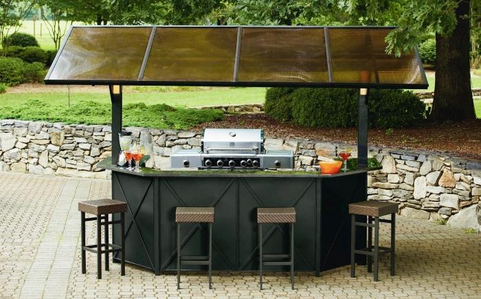 Pennington Style Sunset Beach Hardtop Grill Gazebo Bar