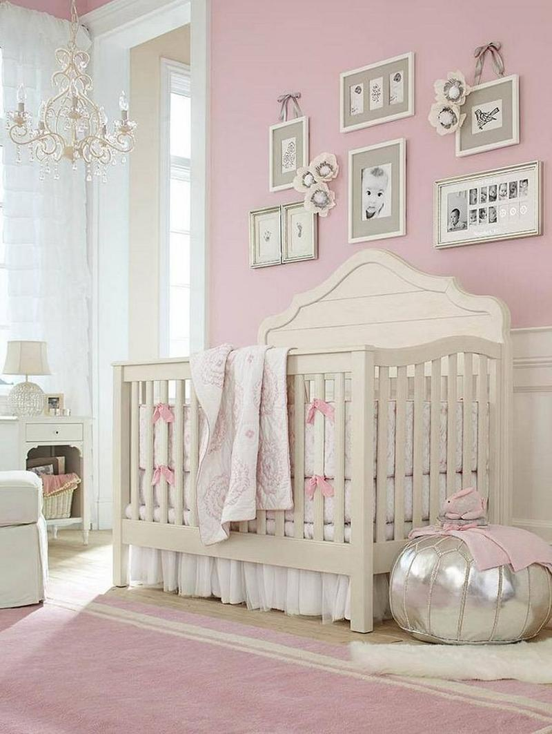 pretty pink nursery adorable pink chandelier