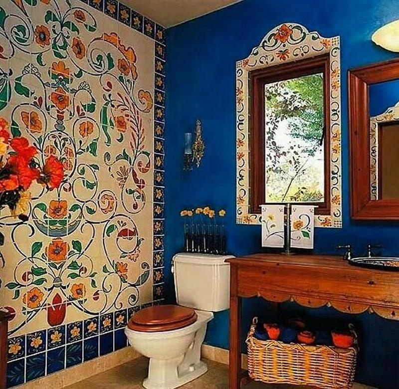 15 captivating bohemian bathroom designs rilane for Quirky bathroom designs