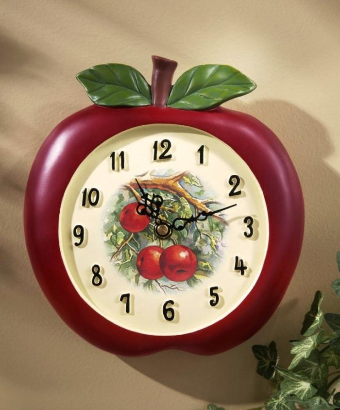 Good 15 Fruity And Stylish Kitchen Wall Clocks