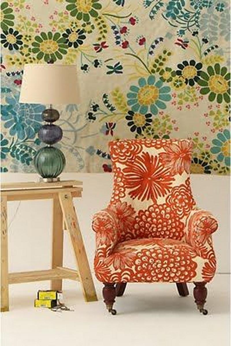 Superior Retro Floral Armchair
