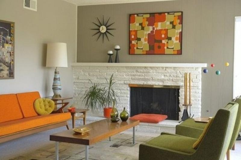 retro mid century living room - Midcentury Living Room Ideas