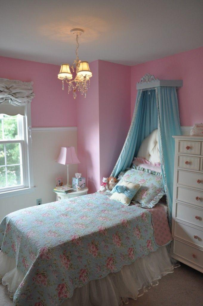 Royalty Blue And Pink Bedroom