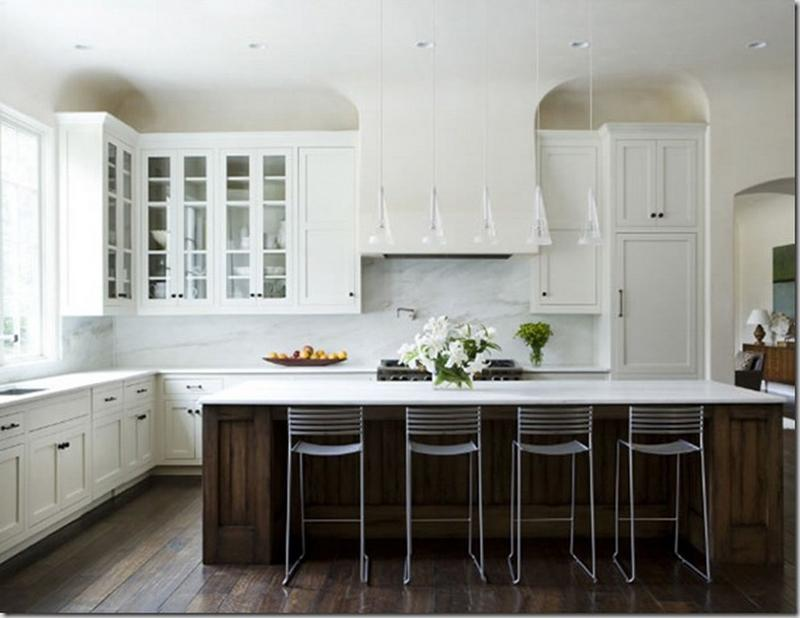 charming blue kitchen island ideas | 15 Charming Kitchen Designs with Glass Cabinets - Rilane
