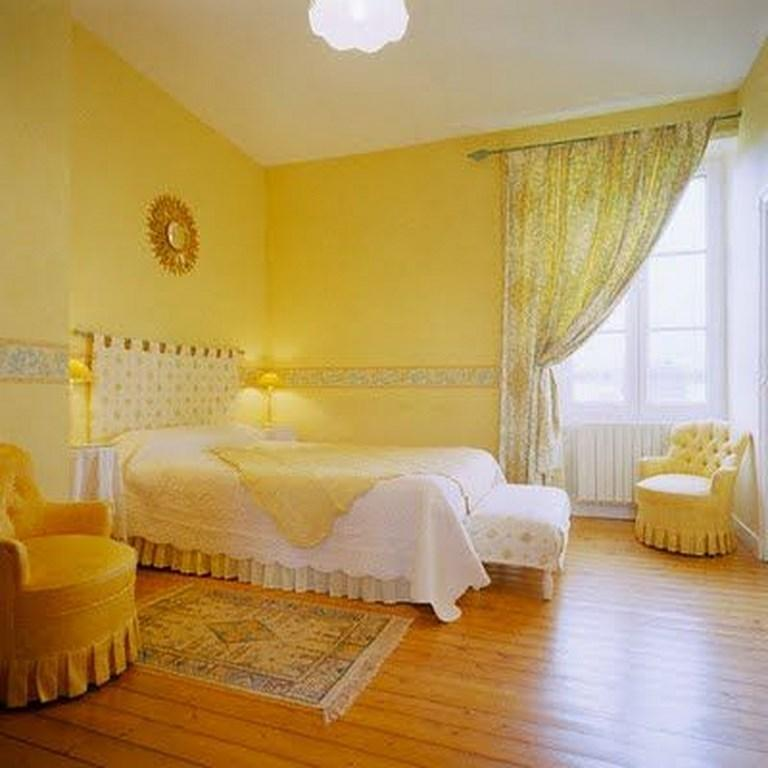 Elegant Serene Yellow Bedroom
