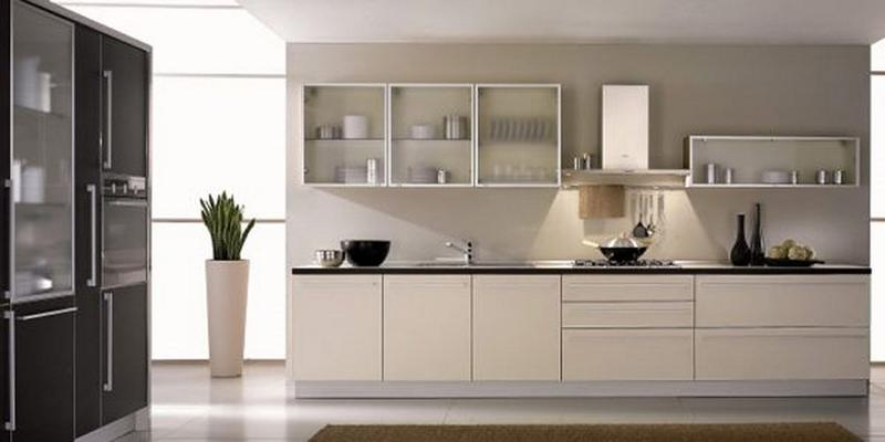 Sleek Kitchen With Frosted Glass