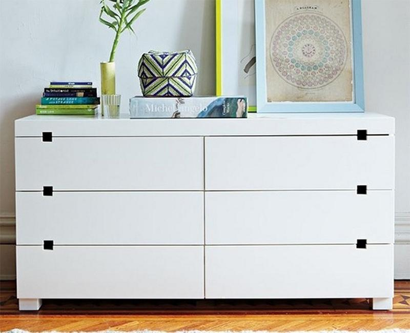 Sleek White Bedroom Dresser
