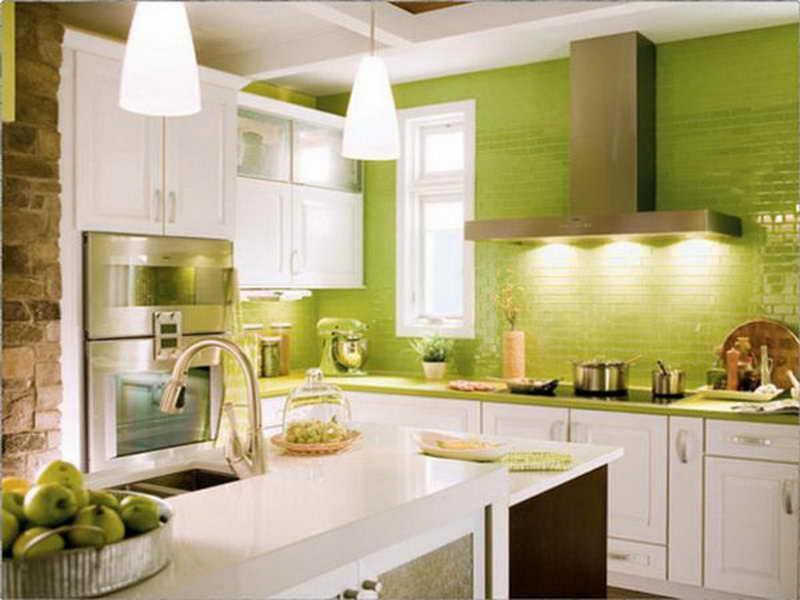 Small Green Kitchen