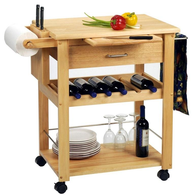 Smart Wood Kitchen Cart
