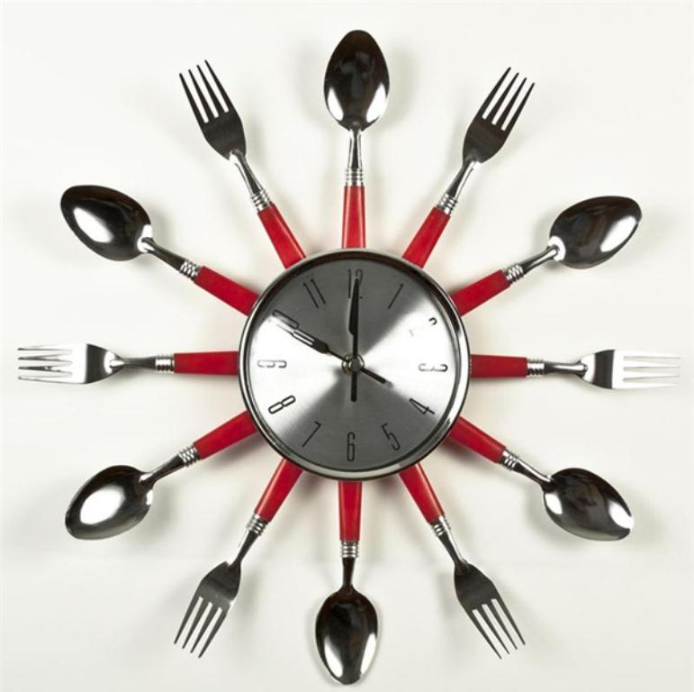 Swiss Cheese Kitchen Wall Clock