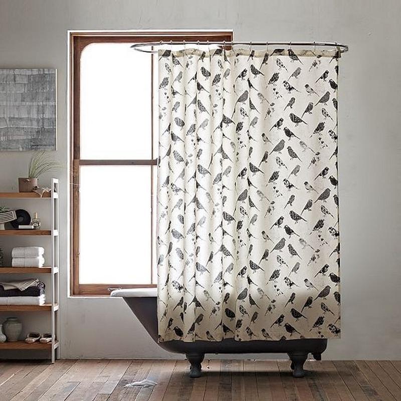 Beau Vintage Bird Shower Curtain