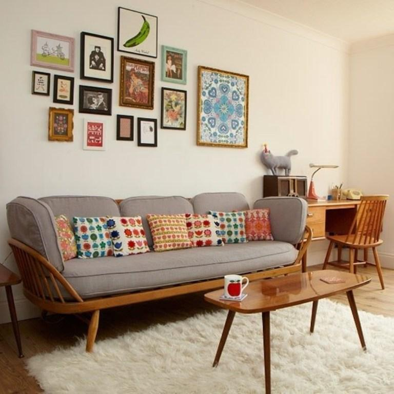 Vintage Mid  Century Living Room Home Design Ideas