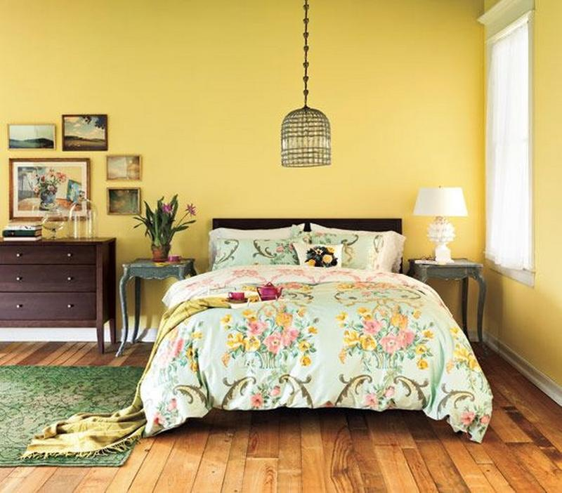 Vintage Yellow Bedroom