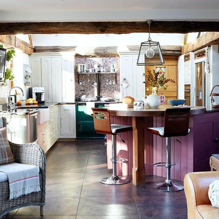 Plum Kitchen Paint: 15 Charming Country Kitchen Design Ideas