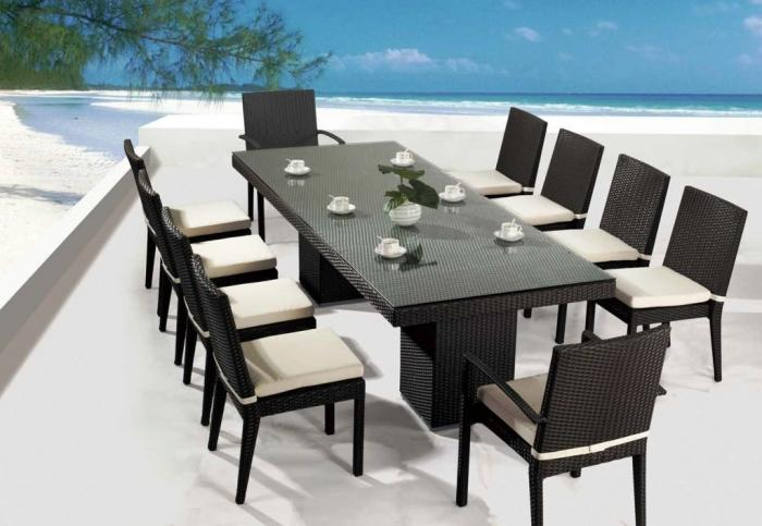 11 Piece Rositano Outdoor Furniture - 15 Stylish Outdoor Dining Sets - Rilane