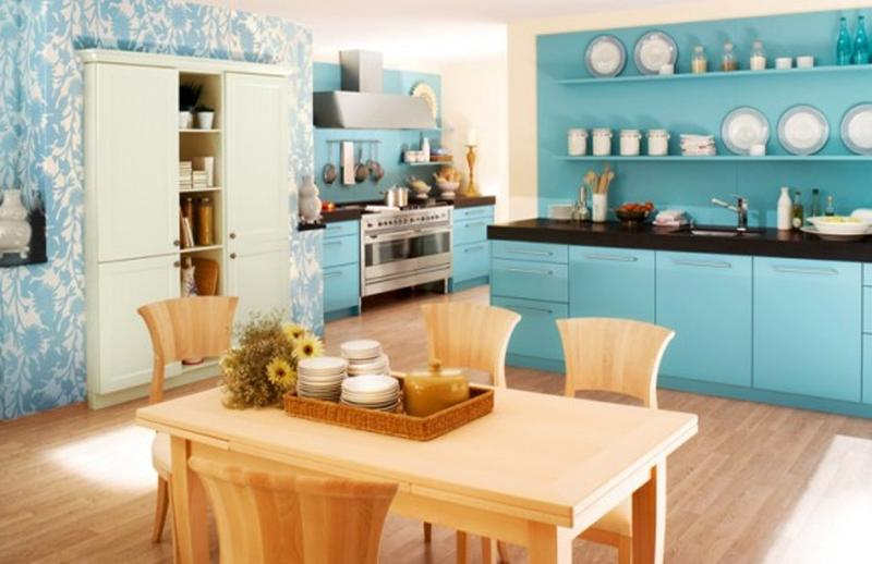 Amazing Aqua Blue Kitchen