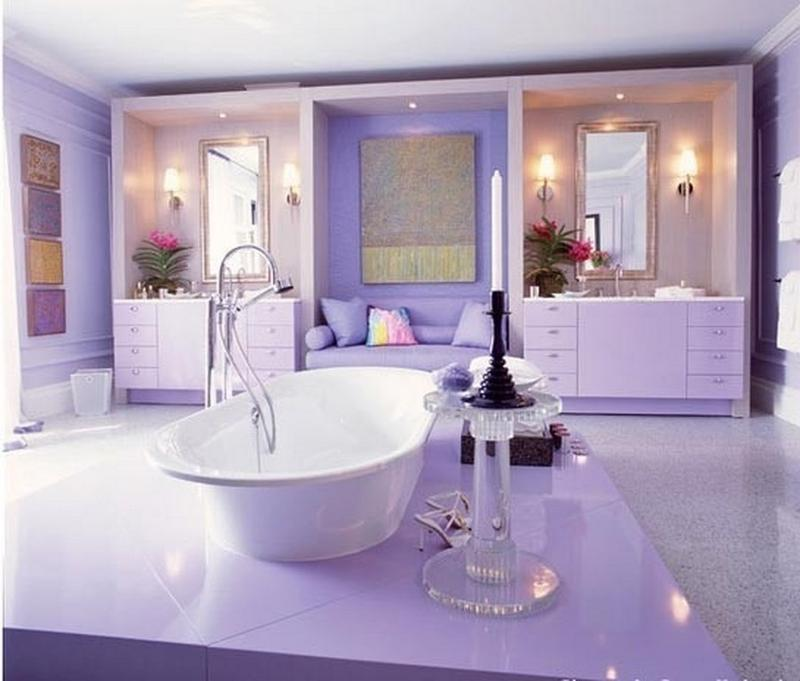 Amazing Purple Bathroom