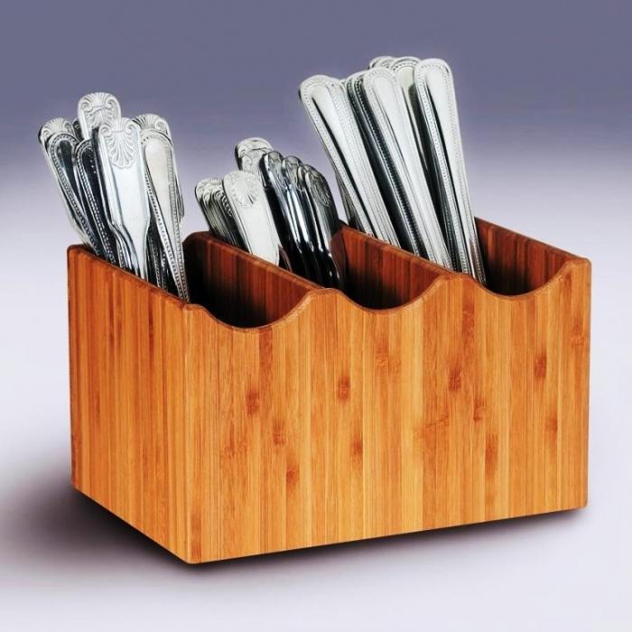 Bamboo Flatware Holder