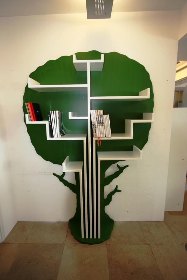 15 outstanding standing bookshelves for your living room for Tree of life bookshelf