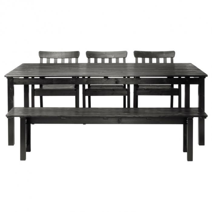 Black Brown Angso Table Set