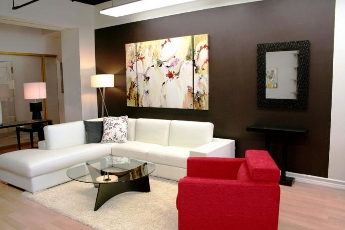 Painted Living Room Captivating 15 Solid Color Living Rooms With Wall Paintings  Rilane Review