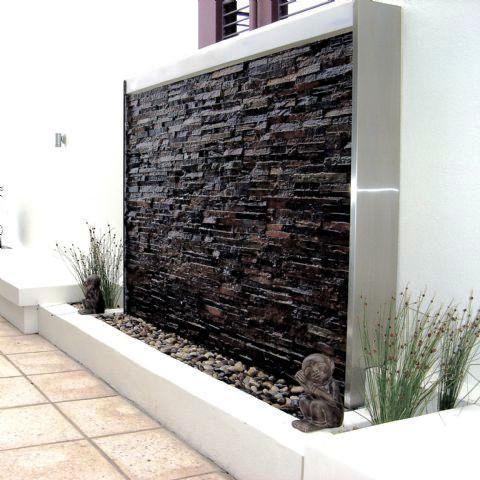 10 stoned water walls for the outdoors rilane for Punch home and landscape design won t install