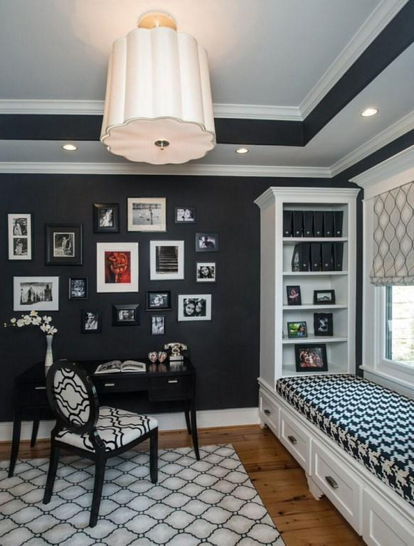 Bold Black Home Office