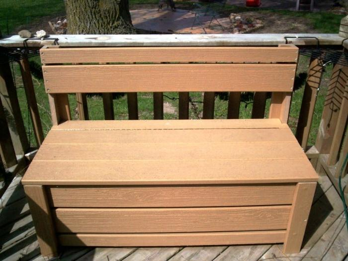 Brown Storage Bench