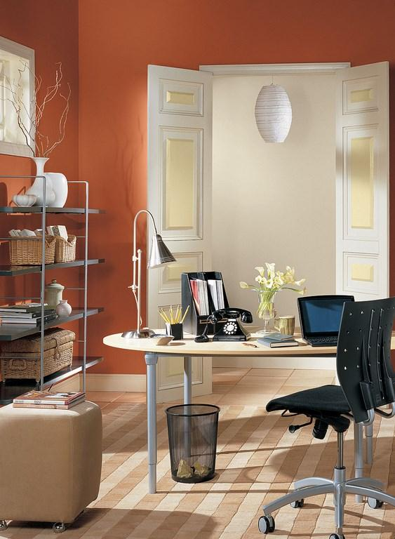 Burnt Orange Home Office