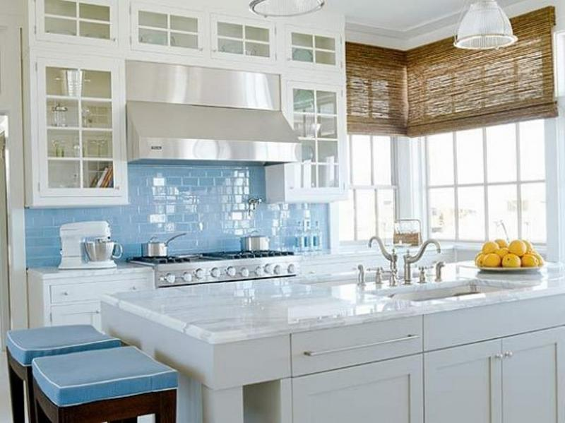 Blue And White Kitchen 20 refreshing blue kitchen design ideas - rilane