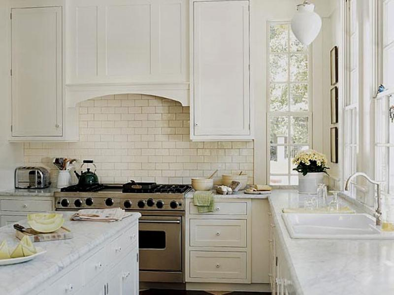 Beautiful Kitchen Designs With Subway Tiles Rilane - White kitchens with subway tile backsplash