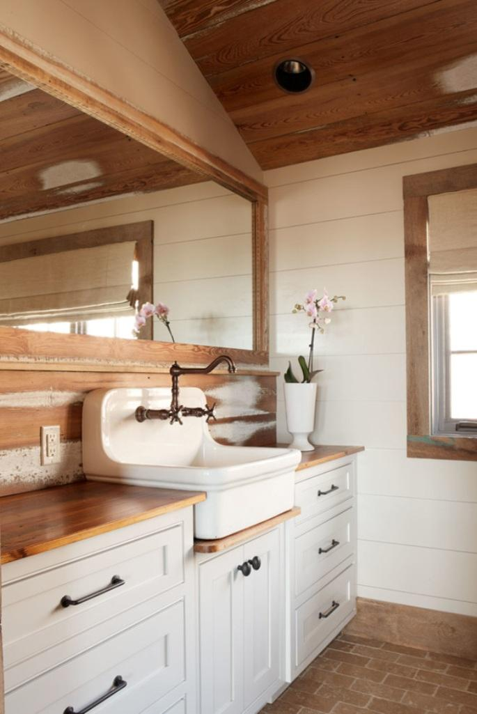 Wood Paneled Room Design: 15 Natural Rustic Bathroom Design Ideas