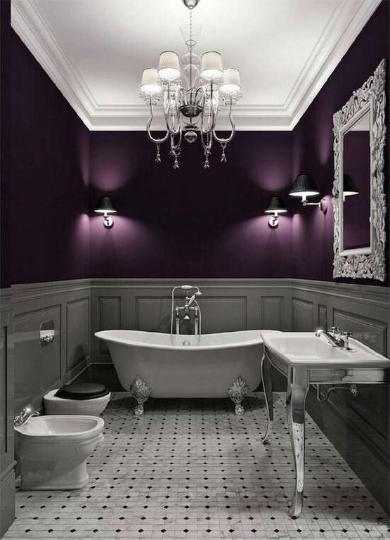Wonderful Gray And Purple Bathroom Ideas Part - 2: 15 Charming Purple Bathroom Ideas