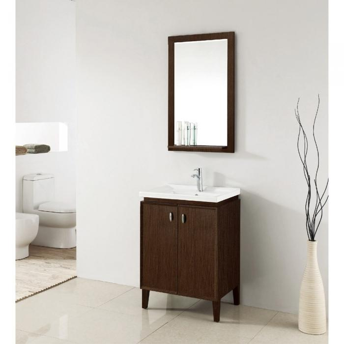 Colton 24 Inch Modern Single Sink Bathroom Vanity