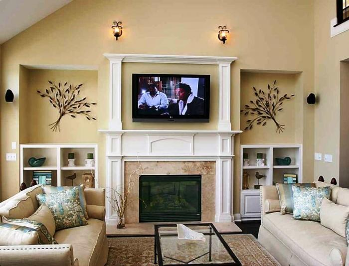 Contemporary Warm TV Area Design Part 51