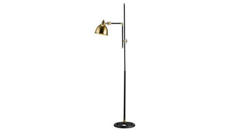 gold floor lamp with black u0026 gold floor lamp curved floo