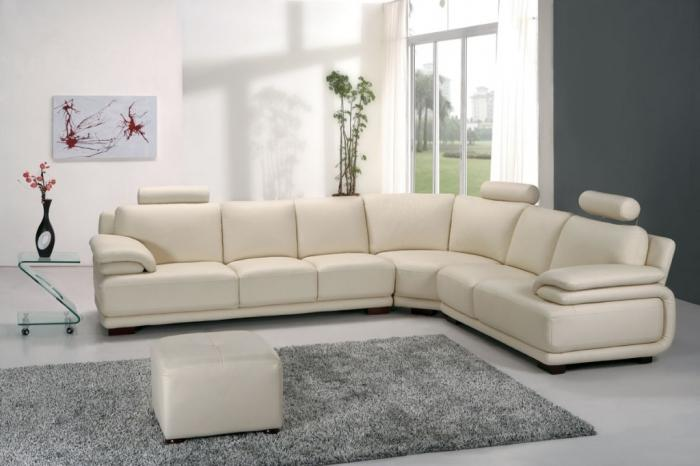 Cool Milky White Sectional Sofa Part 93