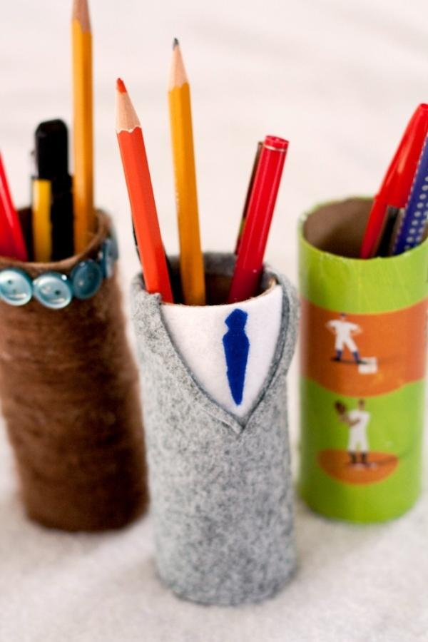 Rustic Pencil Holder: Bring the outdoors in through rustic design. Find a cool piece of wood, sand down the edges and make it into a functional decorative piece for any office. Find a cool piece of wood, sand down the edges and make it into a functional decorative piece for any office.