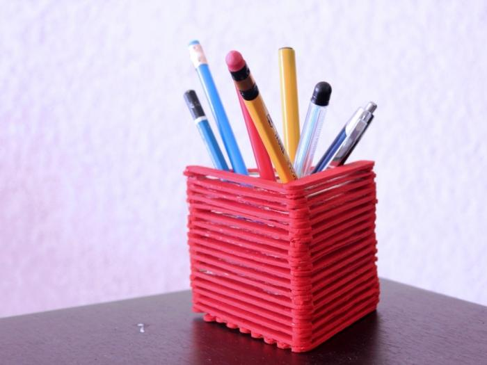 DIY Popsicle Sticks Pen Holder