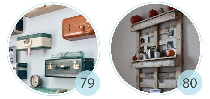 Vintage Suitcase Shelves | 80.DIY: Coffee Corner And Shelf Unit