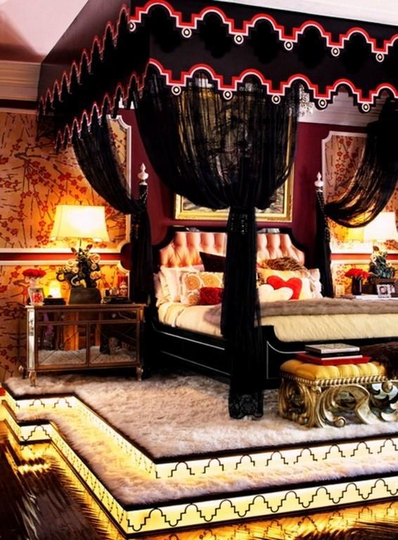 Dramatic Gothic Bedroom