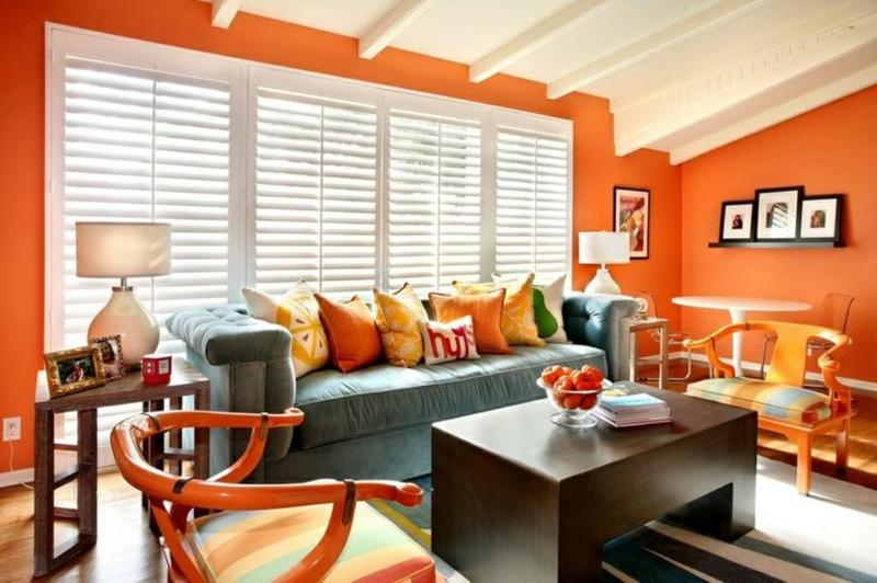 Beautiful 15 Lively Orange Living Room Design Ideas