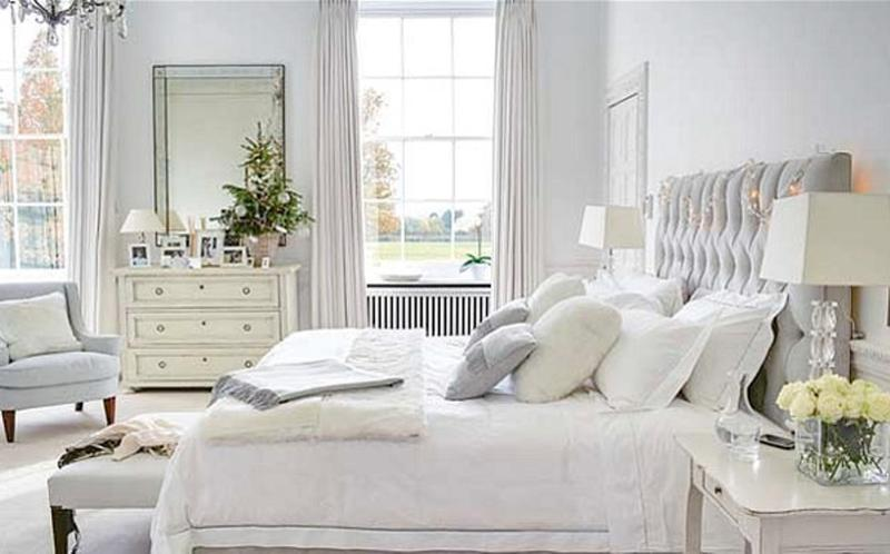elegant white bedroom - White Bedrooms