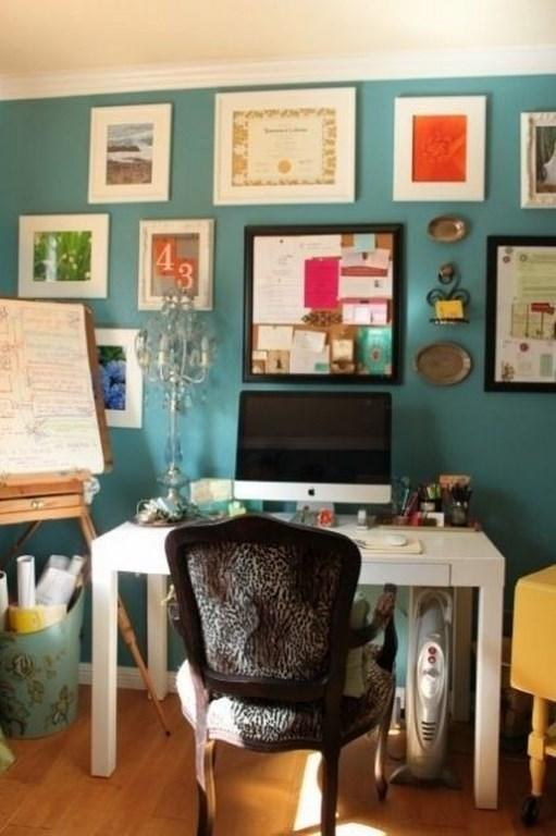 Awesome Fancy Turquoise Home Office