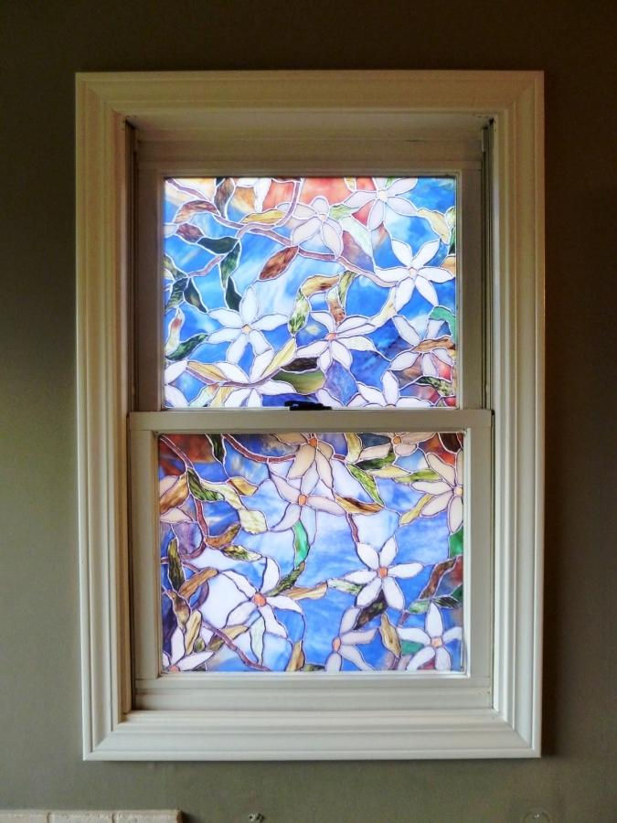 Charming Faux Stained Glass Vinyl