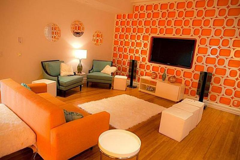 Lively Orange Living Room Design Ideas Rilane
