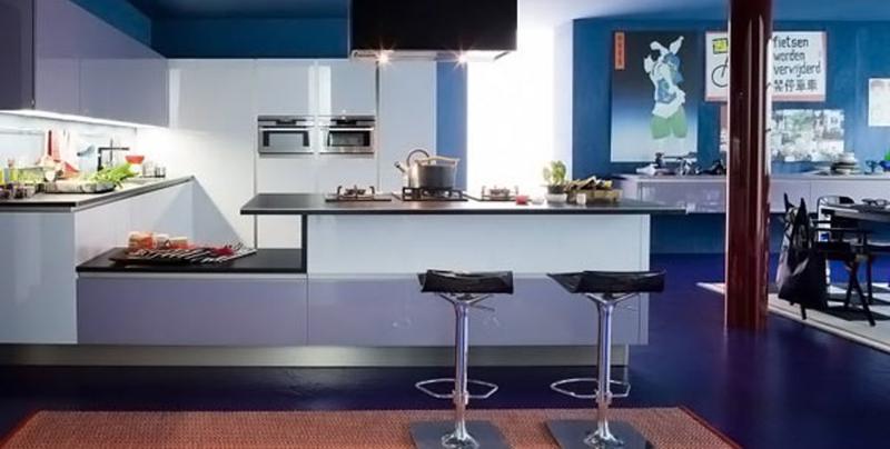 Gloomy Blue Kitchen